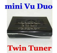 Free Shipping MINI VU DUO / Vu Duo Twin Tuner DVB-S2 Satellite Receiver HD Linux Support Future Official Update PVR 5pcs