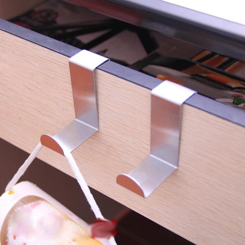 Stainless Steel Over the door Hook Z hook Door hanger Clothes Furniture Kitchen Cabinet Decorative accessories household(China (Mainland))