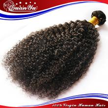 Unprocessed Mongolian Kinky Curly Virgin Hair 6A Grade 3 Pcs Lot Full Head Set Double Weft
