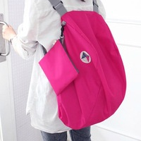 Outdoor multifunctional travel bag double-shoulder folding bag backpack shoulder bag casual bag handbag storage