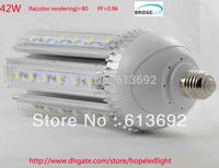 DHL free shipping High Brightness 360degree beam angle Epistar 45mil chip 42W E27 E40 LED Street Lamp corn light 2years warranty
