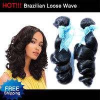 Queen Hair Products Brazilian Virgin Hair Loose Wave Culy Cheaper than ms lula hair 4pcs per lot 5A No Shedding Free Shipping