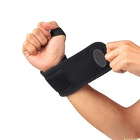 Black Adjustable Sports Thumb around Wrist Brace Support Strap One Size[TY14]