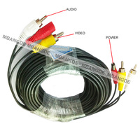 Free Shipping 10MC CCTV POWER AUDIO VIDEO CABLE FOR DVR SECURITY CAMERA SYSTEM 33FT BNC All-In-One