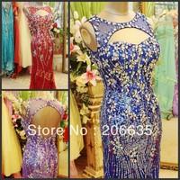 Qualify Dress 25% Discount Evening Dresses Rhinestones Beaded  Mermaid NEWE-0322