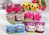 Free shipping 3pair/lot baby socks kids animal Anti-slip walking socks baby Floor Socks indoor wear Baby footwear 0-2 2-4years