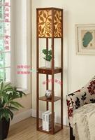 Walnut floor lamp with drawer shelf light bed-lighting bedroom lamp book rack