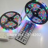 10M (2 x 5M) 5050 LED Strip Lights Waterproof 300leds SMD RGB Lamps + 44 KEYS IR Remote free shipping