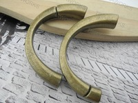 FREE SHIPPING 10pcs Antique Brass Magnetic Half Cuff Bracelet Finding for Licorice Leather  Approx. 9.5mmx6.0mm