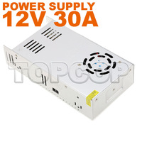 12V 30A 360W Switching Power Supply Driver For LED Strip light Display AC100V-240V Input,12V Output Free Shipping