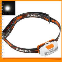 SUNREE Sport Portable LED Headlamp Headlight IPX6 Waterproof Bicycle Bike light with 3 x White Nichia LEDs for Outdoor Lighting