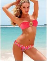 2013 fashion bikini swimwear fashion sexy print crystal bikini