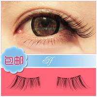 Natural makeup half winged eyelash lengthen short design handmade false eyelashes Free shipping