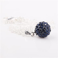 Fashion Jewelry Shamballa Necklace New Tresor Paris Allure CZ Disco Ball Bead xtna byij