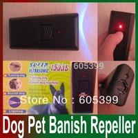New Black Ultrasonic Aggressive Dog Pet banish Repeller Train Stop Barking Training Free Shipping