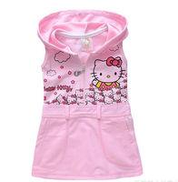 new 2014 girl dress FOR summer hello kitty casual girls dress brief  princess