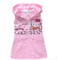 new 2014 girl dress FOR summer hello kitty casual girls dress brief  princess