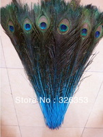 """Free shipping  50 PCS  natural Sky Blue peacock feathers eyes 30-35"""" Inche /80-90CM Dress jewelry/Christmas/Halloween decoration"""