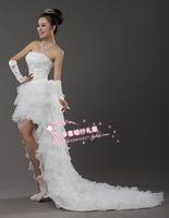 Low-high 2013 wedding small wedding bride dress swithin wedding bandage wedding dress