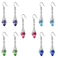 Accessories drop earring all-match unique crystal elegant earrings fairy a44