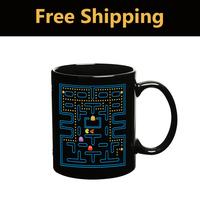 Wholesale Free shipping Creative Pac Man Pakkuman Color Changing Cup Ceramic Tea Mug Senstive Hot Cold Heat Office Coffee Cup