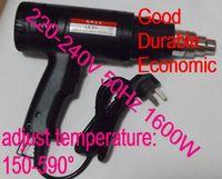 SunRed industry type black 220-240V 50Hz 150-590degree 1600W adjustable temperature heat gun NO.SR-26 wholesale freeshipping