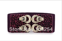 Purple  Fuzz  Fashion Women Buckle Lepoard Waistband Belt