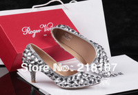Fashion designer high heel diamond shoes pearl women shoes for sale free shipping