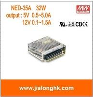 Free Shipping- NED-35A 32W dual output switching power supply  output 12V 5V meanwell NED35A ned35A ned-35a -100% New