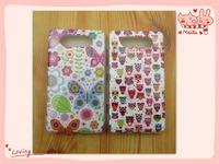 Free shipping owl TPU soft case for Nokia Lumia 820 high quality colorful flowers protective cover Nokia Lumia 820 case