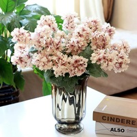 1 PCS Artificial Flowers Largeleaf Hydrangea for Home Decoration Wedding