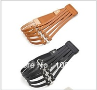Black Fashion Faux leather Women Waistband Belt
