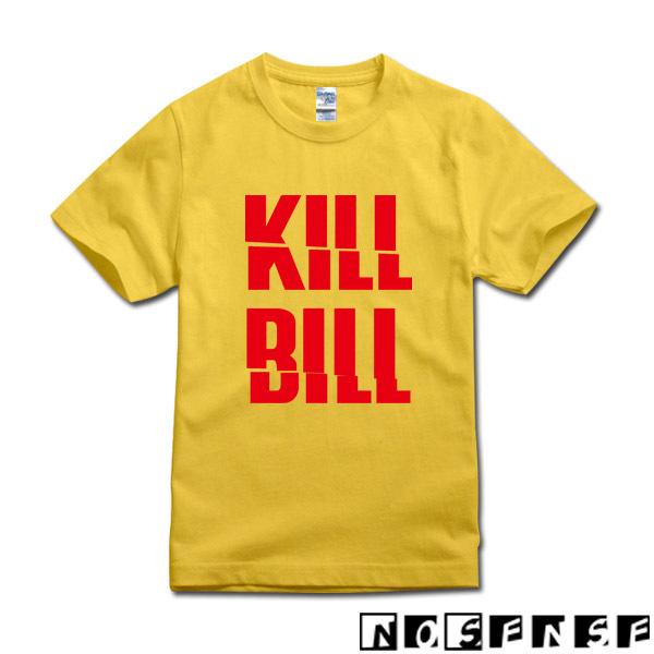 DIY printing tee QUENTIN TARANTINO UMA THURMAN KILL BILL movie t shirt new custom man(China (Mainland))