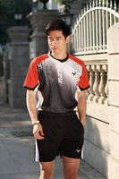 2014 New Victor Men Table Tennis Shirt Clothing Set  Polyester Tennis Shirts Shorts Badminton Shirt Suit Plus Size