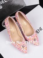 Spring pearl single shoes women diamond high heel shoes women's  free shipping