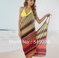Fashion New Summer Soft Adult Holiday Skirt Cover-Ups Bikini Beach Towel Dress Condole Belt Beach Wrapped Skirt Dress Free Ship