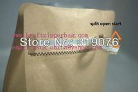 factory direct sale half pound kraft aluminium foil standup zipper packaging bags
