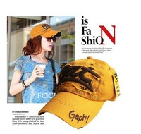 freeshipping  hot sale fashion korea series cotton letter baseball cap ,women sun hat