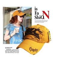 freeshipping  hot sale fashion korea series cotton letter baseball cap ,women sun hat