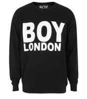 New MEN Black Long Sleeve Print Sweatshirt  Hip hop boy Crewneck Sweater COSBOY STYLE