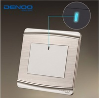 smart home  DENOO 3 color  luxury wall switch panel, LED panel, Light switch, Tap switch,110~250V,1 Gang 1 Way