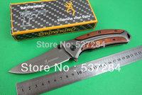 3Piece/lot Browning DA58 Grey Titanium  440 blade Tactical/Survival/Camping Folding knife outdoor hand tools Free shipping CZ074