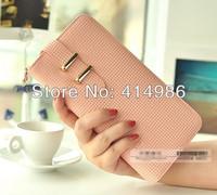HOT Free shipping New 2014 high quality long famous brand elegant women handbag genuine leather wallets purses ZPD8097