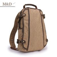 M&D New Arrival Men Canvas Backpack Canvas Cover Zipper School Bags British Fashion Trend Bag