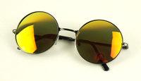 Vintage metal round box multi-colored reflective lens sunglasses 009 5