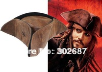 Retail 1 PCS Brown Caribbean Pirate Jack Sparrow Tricorn Hat Party Costumes Accessories Adult Size Free Shipping