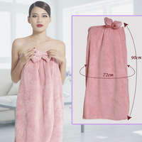 New 2014 High Quality Women  Bow coral fleece Petals rounded edges Adjustable Chest Brands Pajamas Bathrobe Fashion
