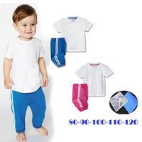 252 casual short-sleeve set male female child summer white t trousers short-sleeve set