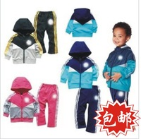 192 color block decoration sports set 100% cotton set