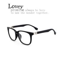 Lovey new fashion star style retro eyeglasses frame man woman unisex vintage plain mirror metal oversized matte black leopard